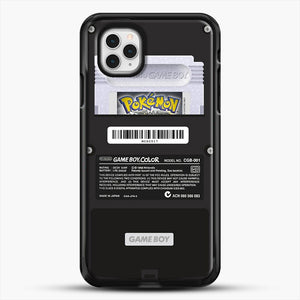 Black Gameboy Color Silver Cartridge iPhone 11 Pro Case, Black Rubber Case | JoeYellow.com