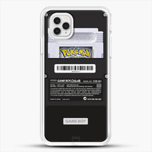 Load image into Gallery viewer, Black Gameboy Color Silver Cartridge iPhone 11 Pro Case, White Rubber Case | JoeYellow.com