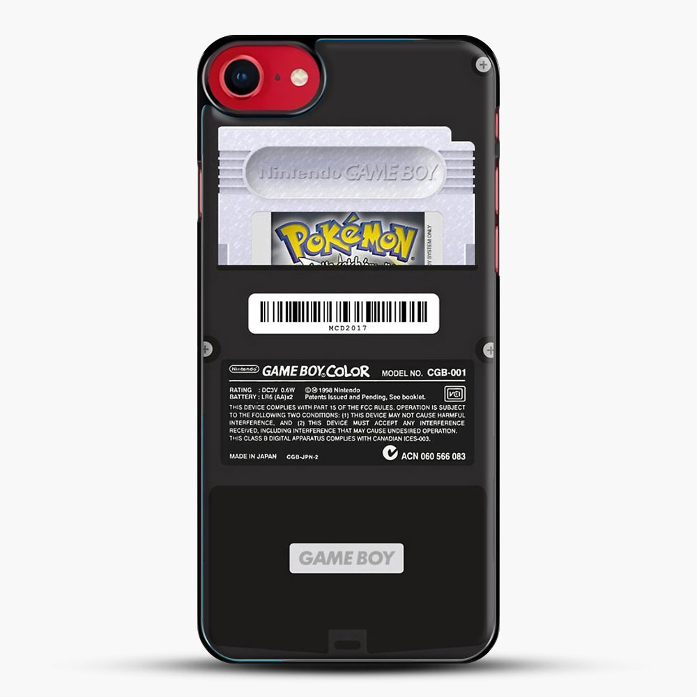 Black Gameboy Color Silver Cartridge iPhone 7 Case, Black Plastic Case | JoeYellow.com