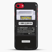 Load image into Gallery viewer, Black Gameboy Color Silver Cartridge iPhone 7 Case, Black Rubber Case | JoeYellow.com