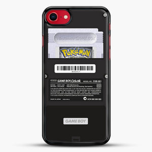 Black Gameboy Color Silver Cartridge iPhone 7 Case, Black Rubber Case | JoeYellow.com