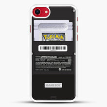 Load image into Gallery viewer, Black Gameboy Color Silver Cartridge iPhone 7 Case, White Rubber Case | JoeYellow.com