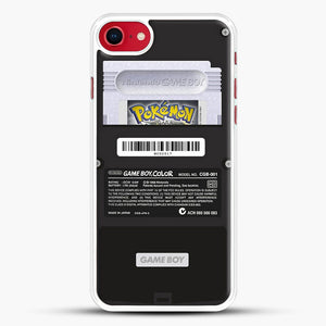 Black Gameboy Color Silver Cartridge iPhone 7 Case, White Rubber Case | JoeYellow.com