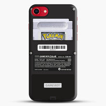 Load image into Gallery viewer, Black Gameboy Color Silver Cartridge iPhone 7 Case, Black Snap 3D Case | JoeYellow.com