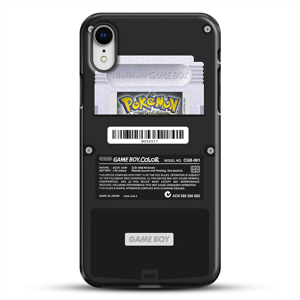 Black Gameboy Color Silver Cartridge iPhone XR Case, Black Plastic Case | JoeYellow.com