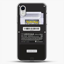 Load image into Gallery viewer, Black Gameboy Color Silver Cartridge iPhone XR Case, White Plastic Case | JoeYellow.com