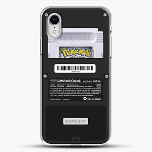 Black Gameboy Color Silver Cartridge iPhone XR Case, White Plastic Case | JoeYellow.com