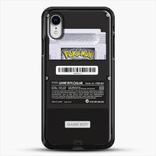 Load image into Gallery viewer, Black Gameboy Color Silver Cartridge iPhone XR Case, Black Rubber Case | JoeYellow.com
