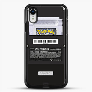 Black Gameboy Color Silver Cartridge iPhone XR Case, Black Rubber Case | JoeYellow.com