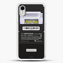 Load image into Gallery viewer, Black Gameboy Color Silver Cartridge iPhone XR Case, White Rubber Case | JoeYellow.com