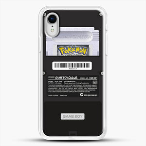 Black Gameboy Color Silver Cartridge iPhone XR Case, White Rubber Case | JoeYellow.com