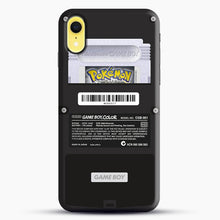 Load image into Gallery viewer, Black Gameboy Color Silver Cartridge iPhone XR Case, Black Snap 3D Case | JoeYellow.com