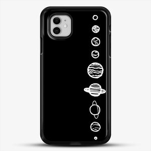 Black Planets iPhone 11 Case, Black Rubber Case | JoeYellow.com