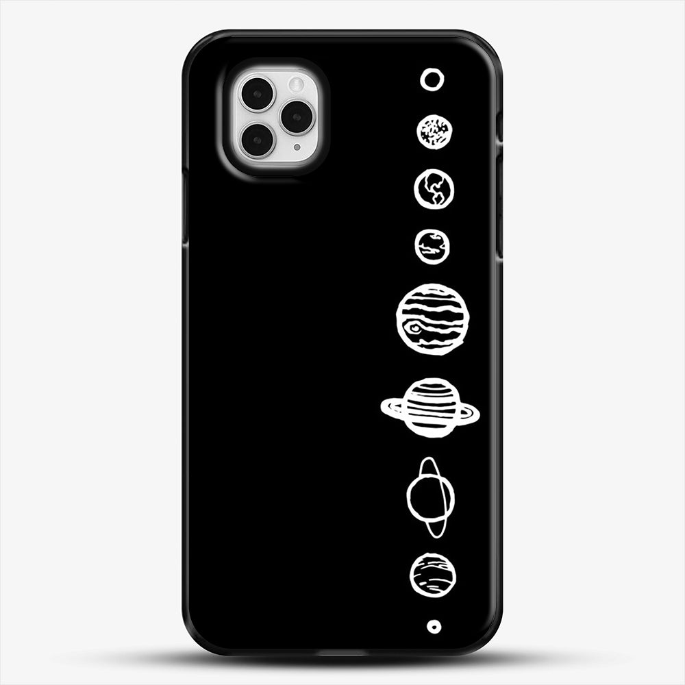 Black Planets iPhone 11 Pro Case, Black Plastic Case | JoeYellow.com