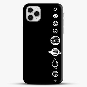Black Planets iPhone 11 Pro Case, Black Snap 3D Case | JoeYellow.com