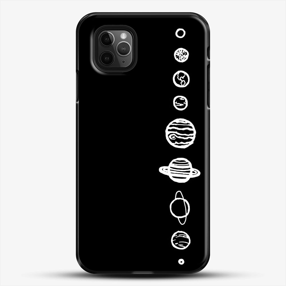Black Planets iPhone 11 Pro Max Case, Black Plastic Case | JoeYellow.com
