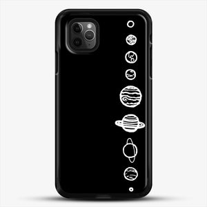 Black Planets iPhone 11 Pro Max Case, Black Rubber Case | JoeYellow.com