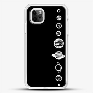 Black Planets iPhone 11 Pro Max Case, White Rubber Case | JoeYellow.com