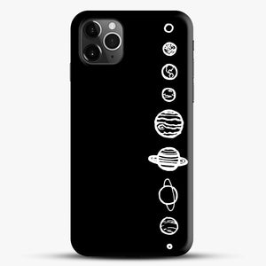 Black Planets iPhone 11 Pro Max Case, Black Snap 3D Case | JoeYellow.com