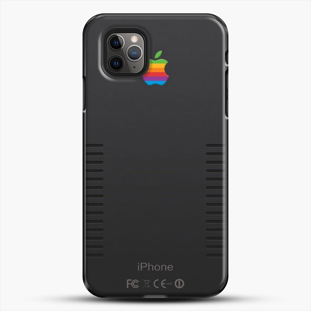 Black Retro iPhone iPhone 11 Pro Max Case, Black Plastic Case | JoeYellow.com