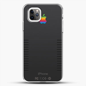 Black Retro iPhone iPhone 11 Pro Max Case, White Plastic Case | JoeYellow.com
