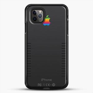 Black Retro iPhone iPhone 11 Pro Max Case, Black Rubber Case | JoeYellow.com