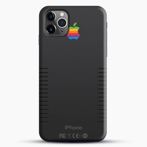 Black Retro iPhone iPhone 11 Pro Max Case, Black Snap 3D Case | JoeYellow.com