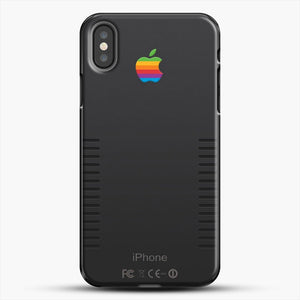 Black Retro iPhone iPhone X Case, Black Plastic Case | JoeYellow.com