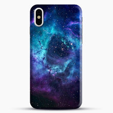 Load image into Gallery viewer, Blue Galaxy iPhone X Case, Black Snap 3D Case | JoeYellow.com