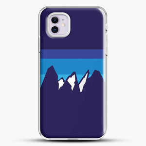 Blue Mountain iPhone 11 Case, White Plastic Case | JoeYellow.com