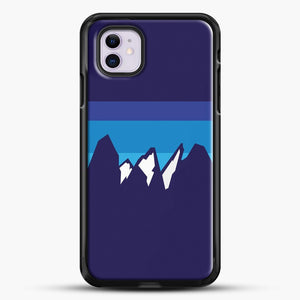 Blue Mountain iPhone 11 Case, Black Rubber Case | JoeYellow.com