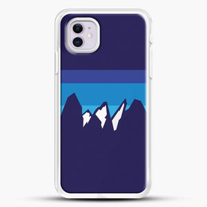 Blue Mountain iPhone 11 Case, White Rubber Case | JoeYellow.com