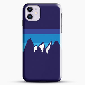 Blue Mountain iPhone 11 Case, Black Snap 3D Case | JoeYellow.com