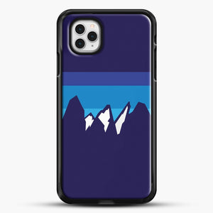 Blue Mountain iPhone 11 Pro Case, Black Rubber Case | JoeYellow.com