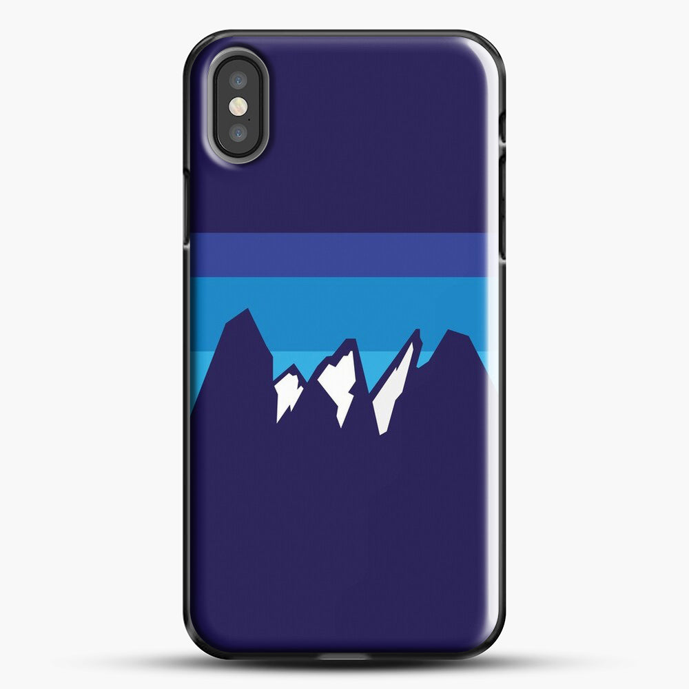 Blue Mountain iPhone X Case, Black Plastic Case | JoeYellow.com
