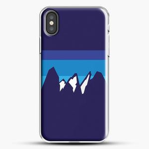 Blue Mountain iPhone X Case, White Plastic Case | JoeYellow.com