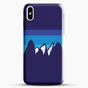 Blue Mountain iPhone X Case, Black Snap 3D Case | JoeYellow.com