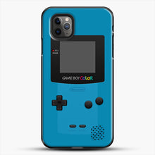 Load image into Gallery viewer, Blue Nintendo Gameboy Color iPhone 11 Pro Max Case, Black Plastic Case | JoeYellow.com