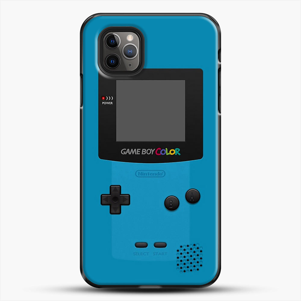 Blue Nintendo Gameboy Color iPhone 11 Pro Max Case, Black Plastic Case | JoeYellow.com