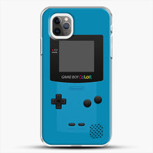 Load image into Gallery viewer, Blue Nintendo Gameboy Color iPhone 11 Pro Max Case, White Plastic Case | JoeYellow.com