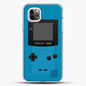 Blue Nintendo Gameboy Color iPhone 11 Pro Max Case, White Plastic Case | JoeYellow.com
