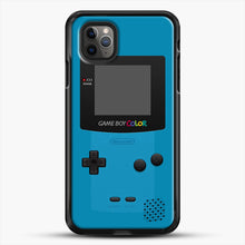 Load image into Gallery viewer, Blue Nintendo Gameboy Color iPhone 11 Pro Max Case, Black Rubber Case | JoeYellow.com
