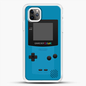 Blue Nintendo Gameboy Color iPhone 11 Pro Max Case, White Rubber Case | JoeYellow.com