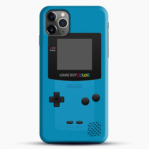 Blue Nintendo Gameboy Color iPhone 11 Pro Max Case, Black Snap 3D Case | JoeYellow.com