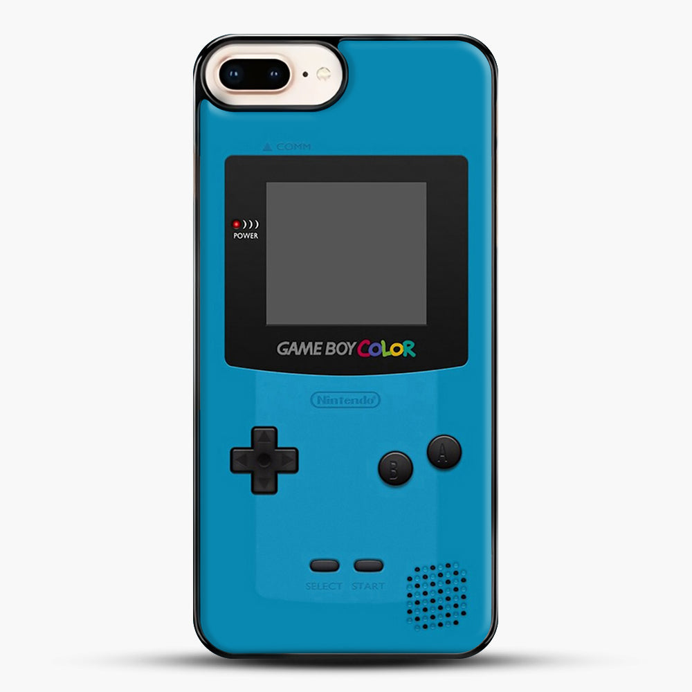 Blue Nintendo Gameboy Color iPhone 7 Plus Case, Black Plastic Case | JoeYellow.com