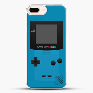 Blue Nintendo Gameboy Color iPhone 7 Plus Case, White Plastic Case | JoeYellow.com