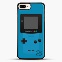 Load image into Gallery viewer, Blue Nintendo Gameboy Color iPhone 7 Plus Case, Black Rubber Case | JoeYellow.com