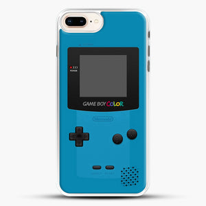 Blue Nintendo Gameboy Color iPhone 7 Plus Case, White Rubber Case | JoeYellow.com
