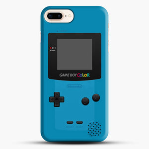 Blue Nintendo Gameboy Color iPhone 7 Plus Case, Black Snap 3D Case | JoeYellow.com