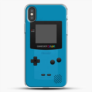 Blue Nintendo Gameboy Color iPhone X Case, White Plastic Case | JoeYellow.com